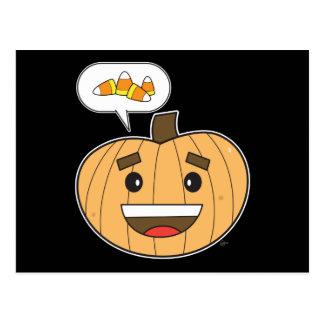 Kawaii Pumpkin - Postcard