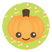 Kawaii Pumpkin sticker