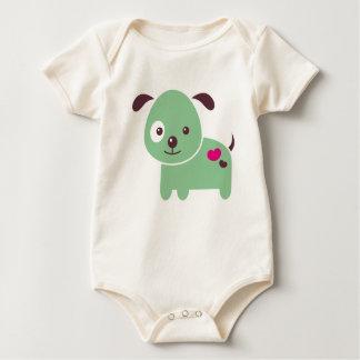 Kawaii puppy baby bodysuit