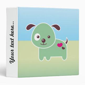 Kawaii puppy vinyl binder
