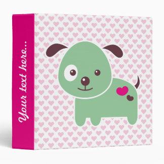 "Kawaii puppy carpeta 1 1/2"""