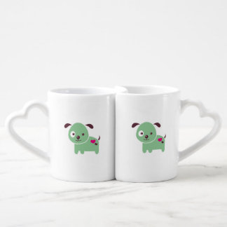 Kawaii puppy coffee mug set