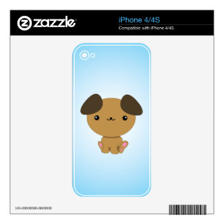 Kawaii Puppy iPhone skin Decal For The iPhone 4S