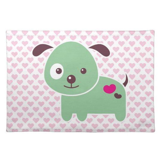 Kawaii puppy placemat