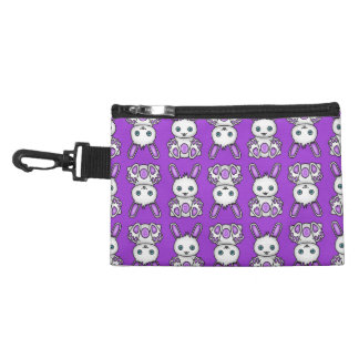 Kawaii Purple Bunny Pattern Accessory Bag