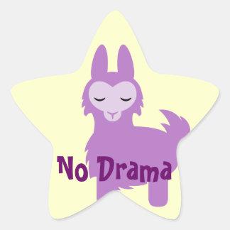 Kawaii Purple Llama Star Sticker