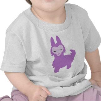 Kawaii Purple Llama Tee Shirts