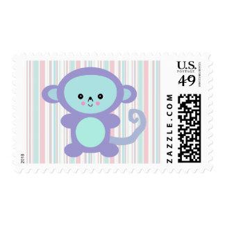 kawaii purple monkey postage