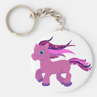 kawaii purple pony keychain