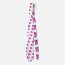 kawaii purple pony neck tie