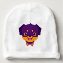 Kawaii Purple Rottweiler Puppy Pattern Baby Beanie