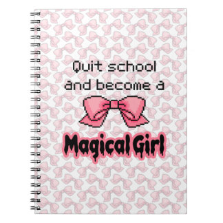kawaii quit school become a magical girl melty notebook