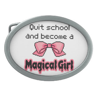 kawaii quit school become a magical girl melty oval belt buckle