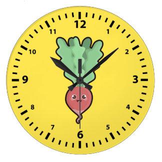 Kawaii Radish Large Clock