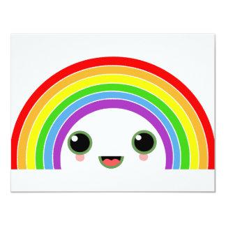 kawaii rainbow 4.25x5.5 paper invitation card
