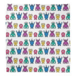 Kawaii Rainbow Alien Monsters Pattern Bandanna