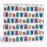 Kawaii Rainbow Alien Monsters Pattern Binders