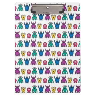 Kawaii Rainbow Alien Monsters Pattern Clipboard