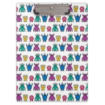 Kawaii Rainbow Alien Monsters Pattern Clipboards
