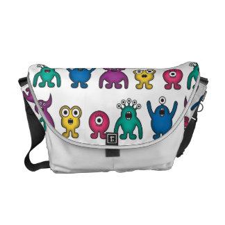 Kawaii Rainbow Alien Monsters Pattern Commuter Bag