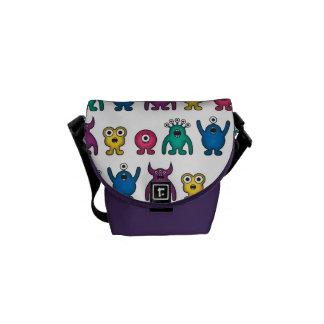 Kawaii Rainbow Alien Monsters Pattern Messenger Bag