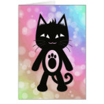 Kawaii Rainbow and Black Cat Cards