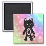 Kawaii Rainbow and Black Cat Magnets