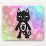Kawaii Rainbow and Black Cat Mouse Pad