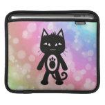 Kawaii Rainbow and Black Cat Sleeve For iPads
