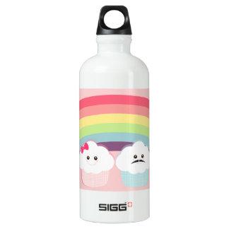 Kawaii Rainbow and Cupcakes Aluminum Water Bottle