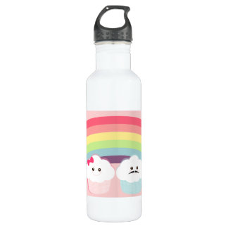 Kawaii Rainbow and Cupcakes Water Bottle