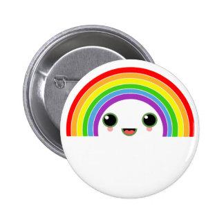kawaii rainbow buttons