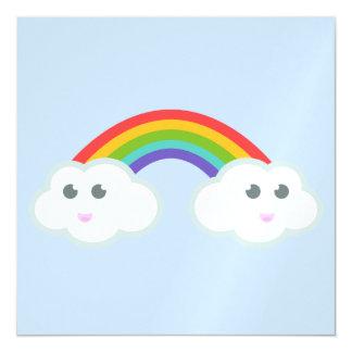 Kawaii rainbow cloud magnetic card