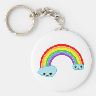 kawaii rainbow clouds key chains