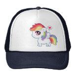 Kawaii rainbow pony mesh hats