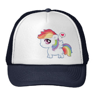 Kawaii rainbow pony trucker hat