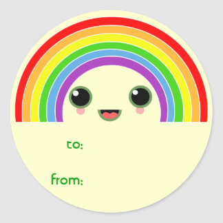 kawaii rainbow stickers