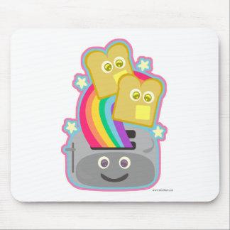 Kawaii Rainbow Toast Mouse Pad