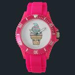 "Kawaii Rave Ice Cream Cartoon Wristwatch<br><div class=""desc"">Kawaii Rave Ice Cream Cartoon</div>"