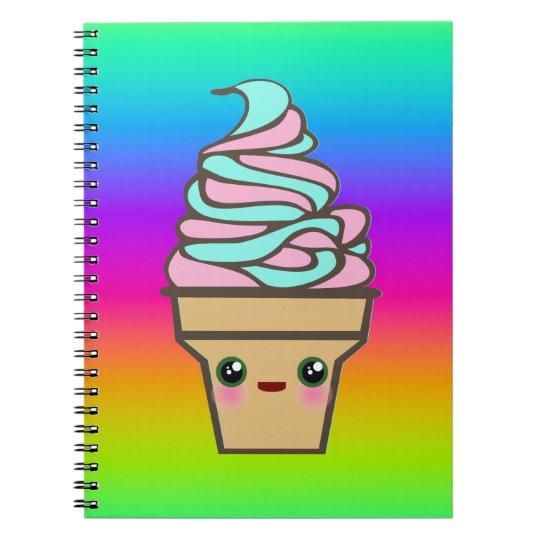 Kawaii Rave Ice Cream Cone Notebook