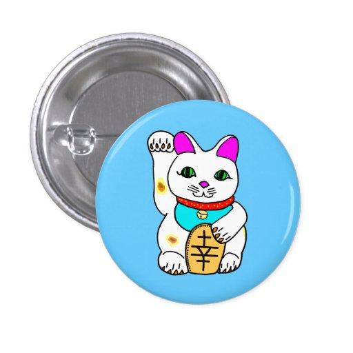 Kawaii Rave Lucky Cat Maneki Neko Pin
