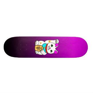 Kawaii Rave Lucky Cat Maneki Neko Skate Deck