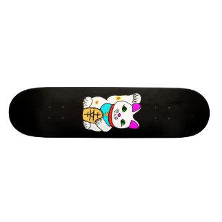 Kawaii Rave Lucky Cat Maneki Neko Skate Board Deck