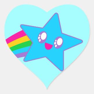 Kawaii Rave Neon Star Rainbow Heart Sticker