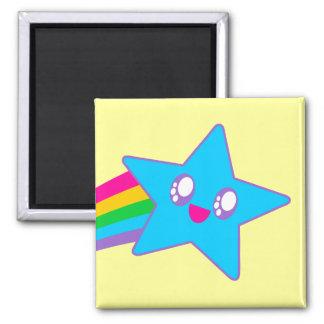 Kawaii Rave Neon Star Rainbow Magnet
