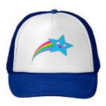 Kawaii Rave Neon Star Rainbow Trucker Hat