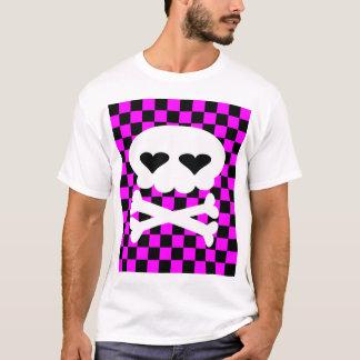 Kawaii Rave Skull Checkerboard T-Shirt