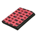 Kawaii Red Cat and Paw Print Pattern Wallet