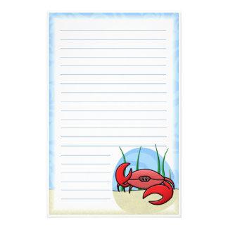 Kawaii Red Crab Stationery