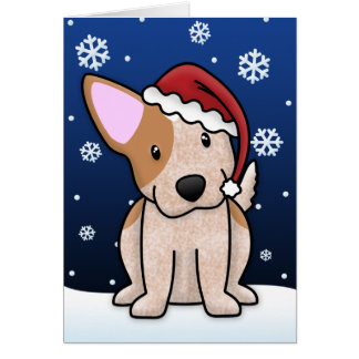 Kawaii Red Heeler Christmas Card